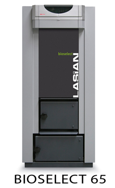 LASIAN BIOSELECT 55 caldera de pie de policombustibles sólidos(para pellets, cascara de almendra, orujillo, hueso de oliva,etc,...) de 55 KW.solo calefacción.
