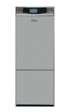 FERROLI ATLAS D30 KI 130 UNIT de pie  de 30 Kw. Mixta, Depósito inoxidable de 130 litros. Kit combustión estanca opcional